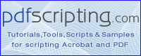 Acrobat Scripting Tutorials, Tools and Samples