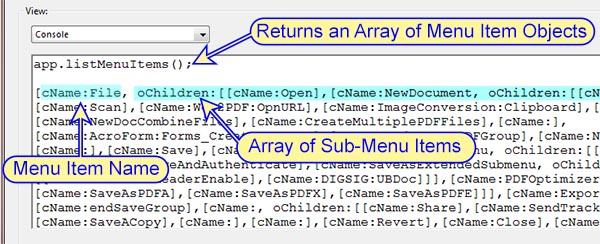 How to run a menu item from a script